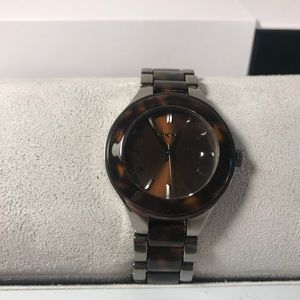 DKNY Brown Dial Steel & Tortoise Watch